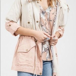 Blu Pepper Jackets & Coats - Pink and white Dry Goods jacket